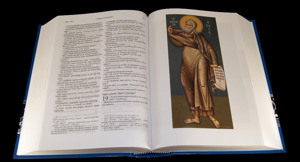 Biblia Tysiąclecia z ilustracjami otwarta